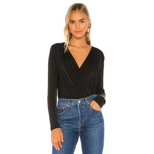 NWT Free People Turnt Bodysuit in Black